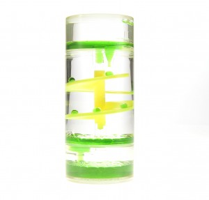 Liquid Motion Bubbler Spiral Cylinder (Green)