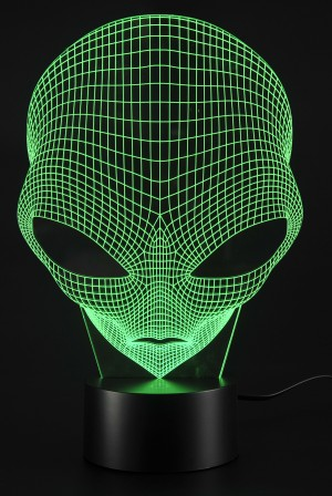 3D Lamp USB Power 7 Colors Amazing Optical Illusion 3D Grow LED Lamp Alien Shapes