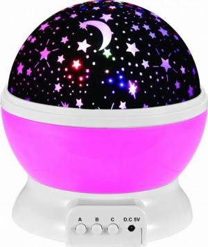 Night Light Projection Lamp (Pink)