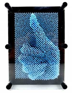 3D Pin Art Impression Board (Light Blue)